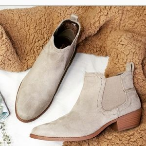 Shoes - 🆕️//The Tracie// Taupe vegan suede Bootie